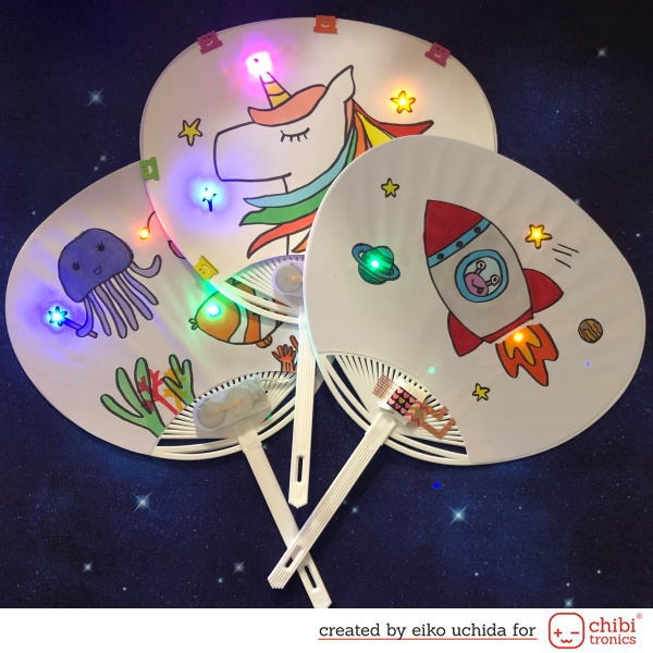 How to make light up Japanese fan.