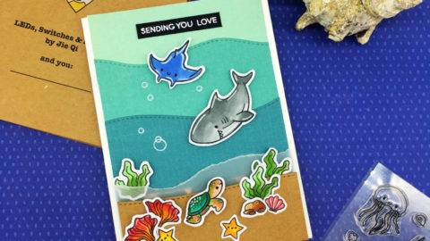 SENDING YOU LOVE- LIGHT UP SEA CARD