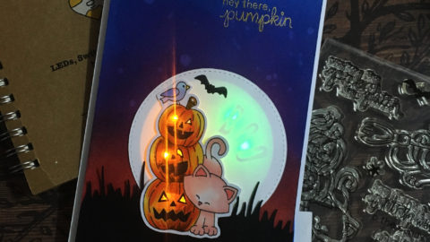 Light Up Hidden Message Halloween Cad