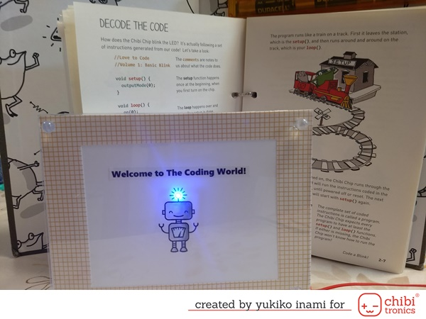 The light-up frame with Chibichip      —introducing the Love to Code