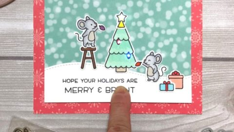 Merry Mice Slider Card