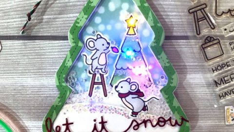 How to make light up tree shaker card.