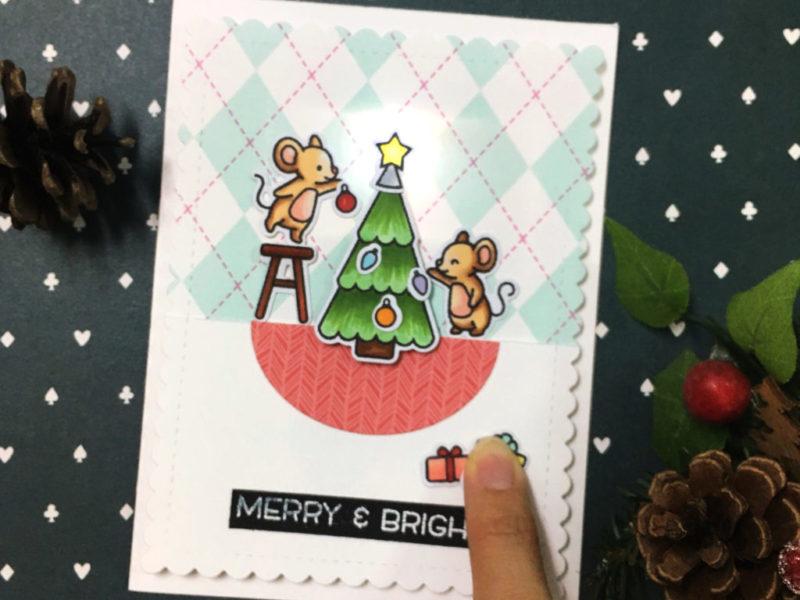 light up Christmas card – basic level