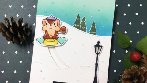 Slider light up card