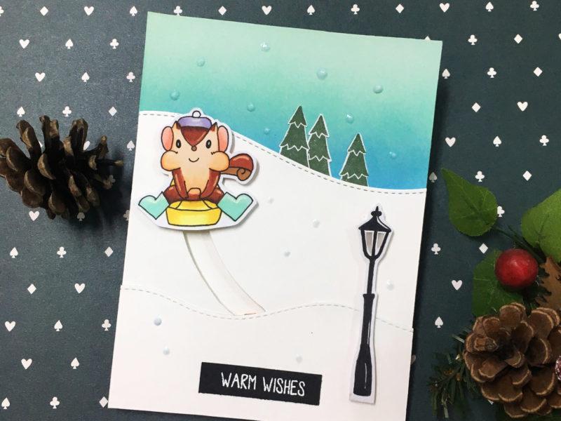 Slider light up card