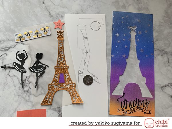 Dreamy Eiffel Tower Card