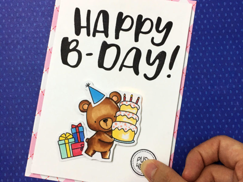 Birthday Light up card for beginner