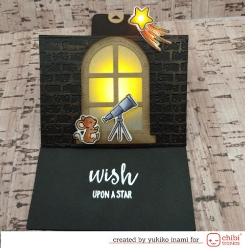 Wish Upon a Star—The Slider Pop up Card with lights