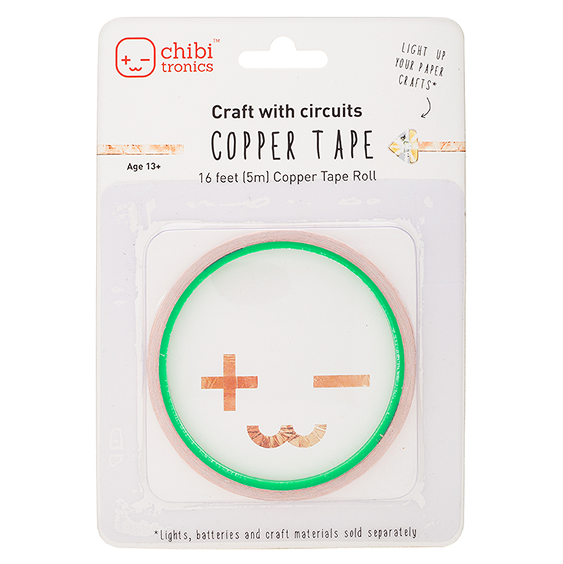 A role of copper tape is in white packaging.