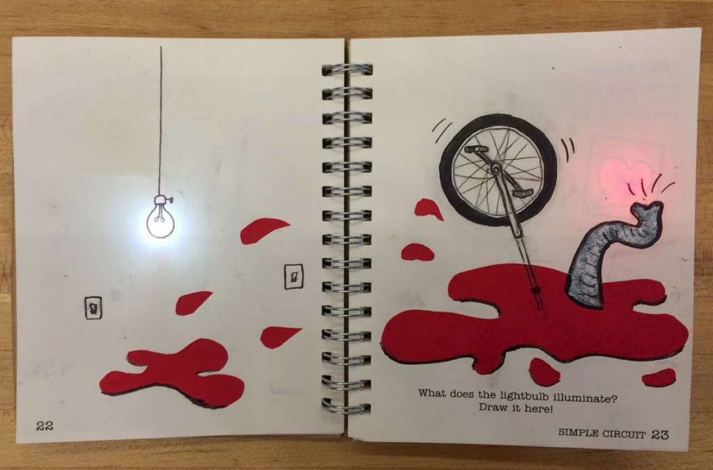simple LED unicycle accident