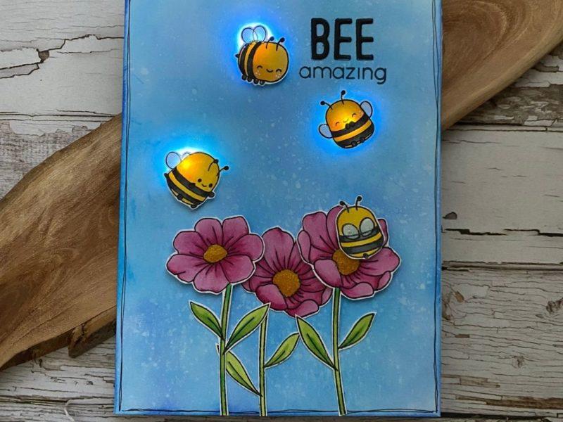 Bee Amazing with Chibitronics LED Stickers