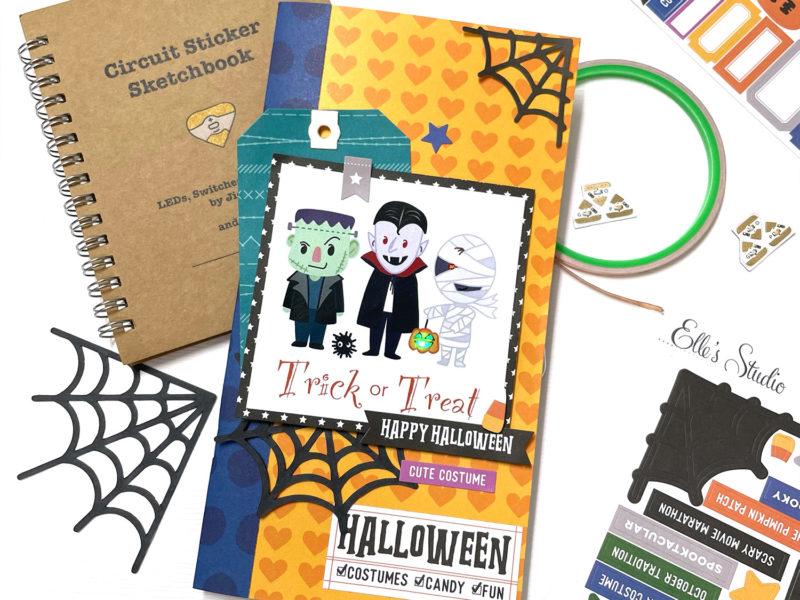 Light up Halloween traveler's notebook cover
