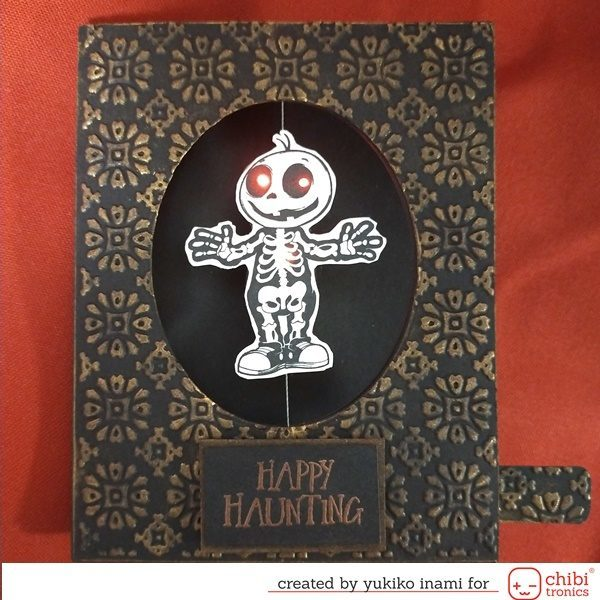 The Spinner Card with the Conductive Threads— Happy Haunting!